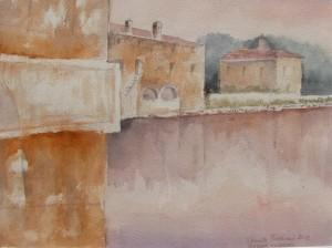 Anna Maria Peverieri, Bagni Vignoni (acquerello)