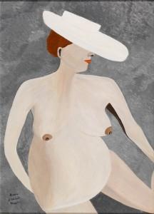 Anna d'Aloisio Mayo, Senza titolo (olio su carta, 70x100)