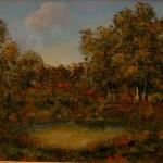 Lena Gentile, Paesaggio calabrese (olio su tavola, 45x65)