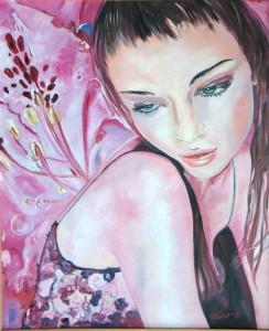 Manuela Micheli, Ninfea (olio su tela, 50x60)