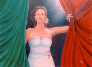 Maria Teresa Stasi, Buongiorno, Italia 2011 olio su cartoncino telato cm 60x70