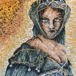 Marzia Dottarelli, Popolana medievale (mosaico in vetro, 54,5x64,5)