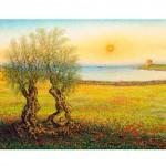 Pasquale Scarciglia, Qui Salento (olio su tela, 70x120)