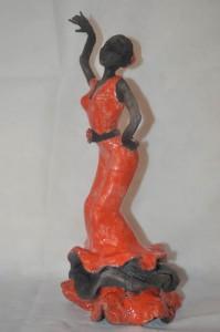 Patrizia Burlando, Ballerina di flamenco (scultura RAKU)